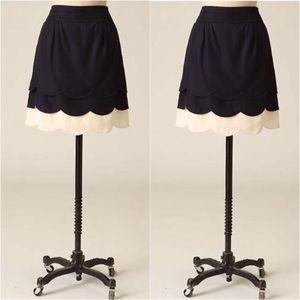 Anthropologie Floreat Scalloped skirt